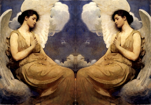 Yahweh's Angelcraft Art -- a Holy Spirit a Mystical Rendering -- inspired by Abbot Thayer