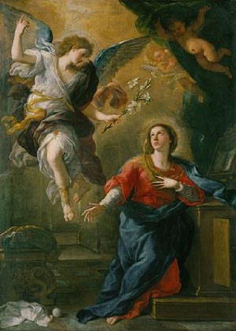 US National Gallery Digital Collection - Oil on Canvas - Luca-Giordano 1672 la Anunciacion